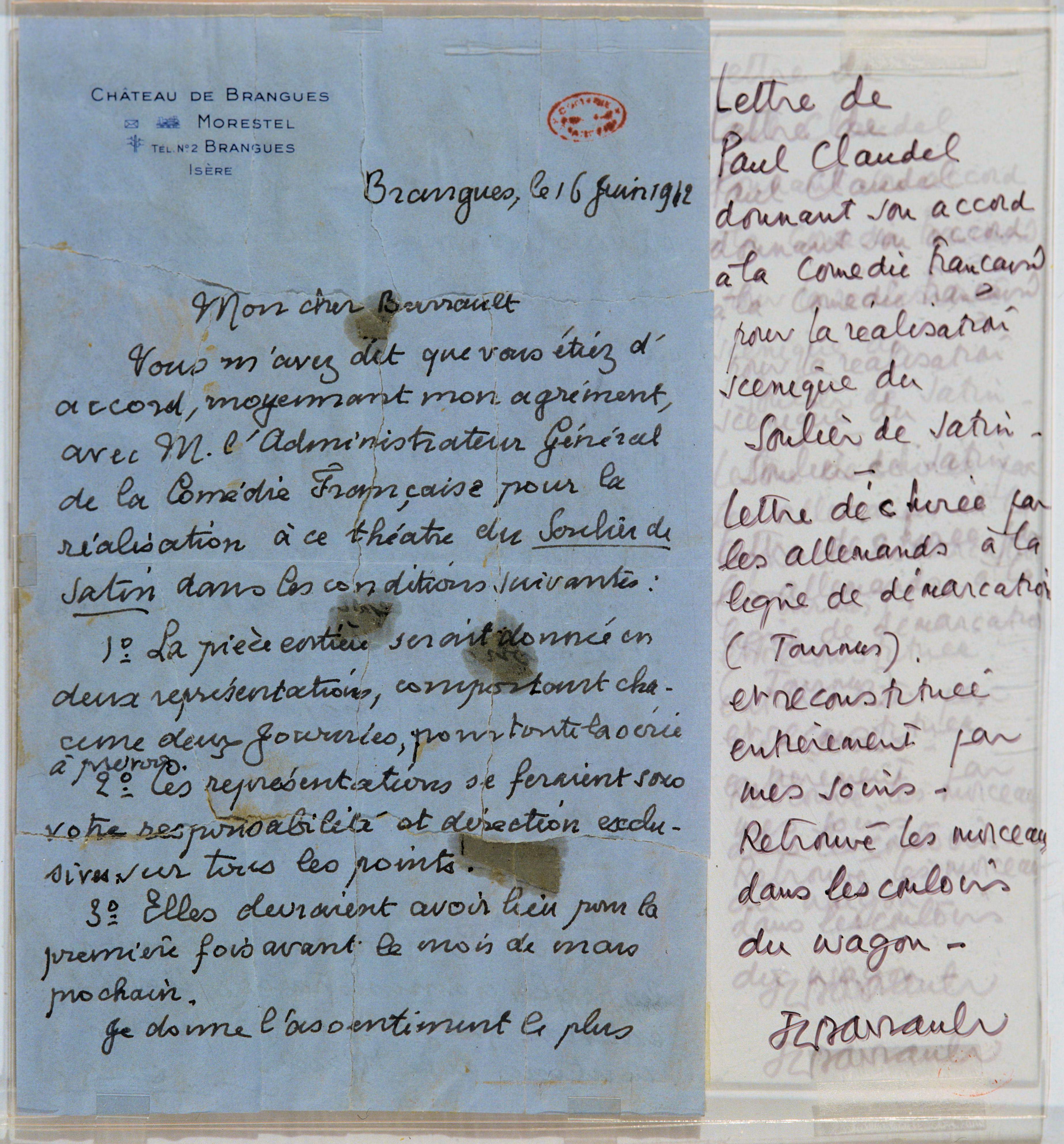 lettre-de-claudel-a-barrault-pour-le-soulier-1942-photo.-lorette-002-