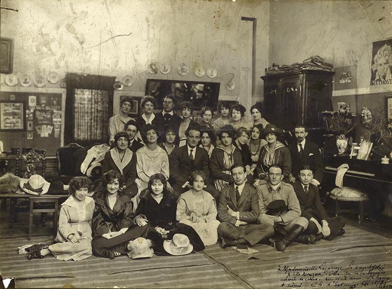 escande-maurice-sa-classe-au-conservatoire-1918