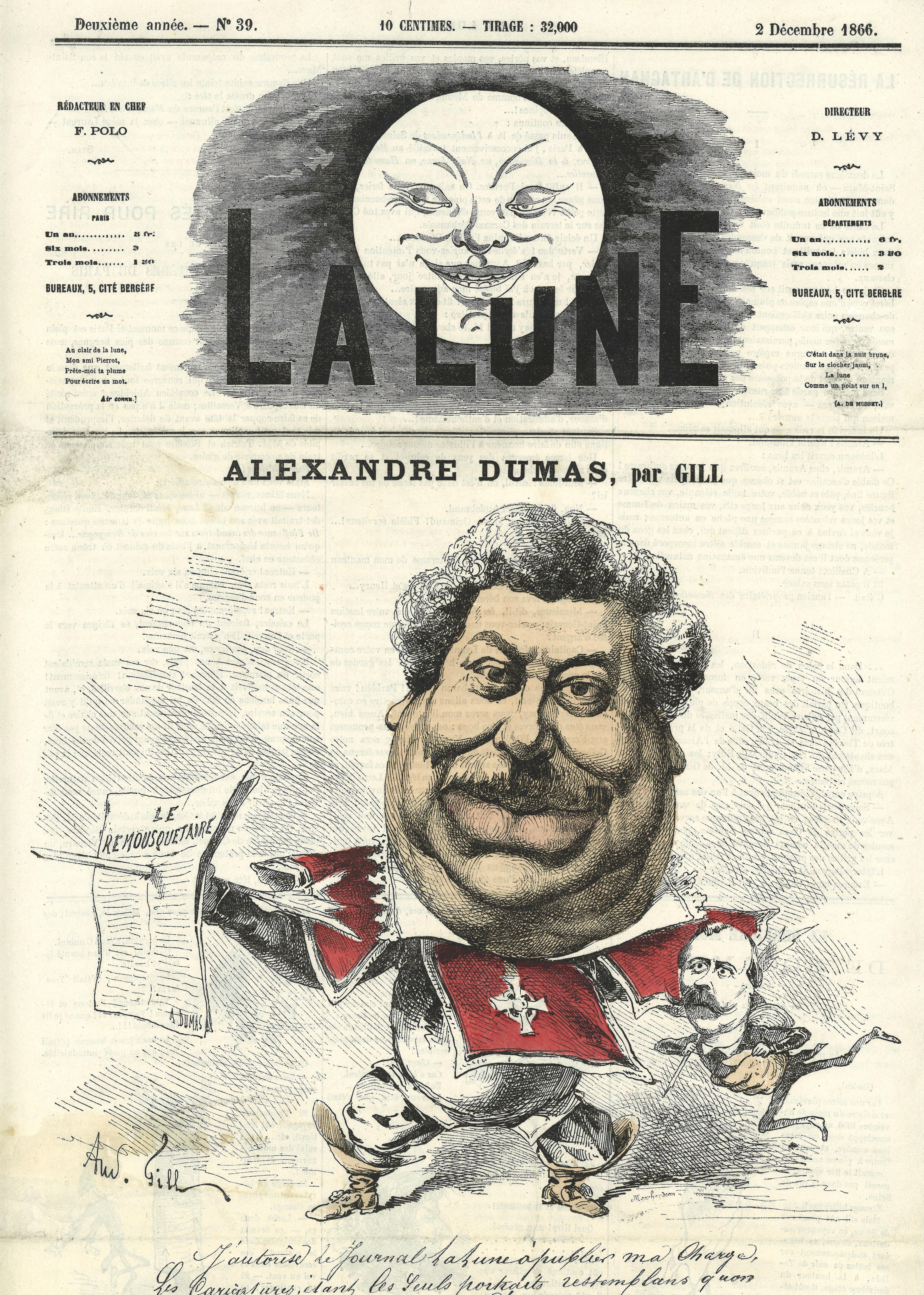02-alexandre-dumas-caricature-par-gill-dans-la-lune-n-macr-39-1866