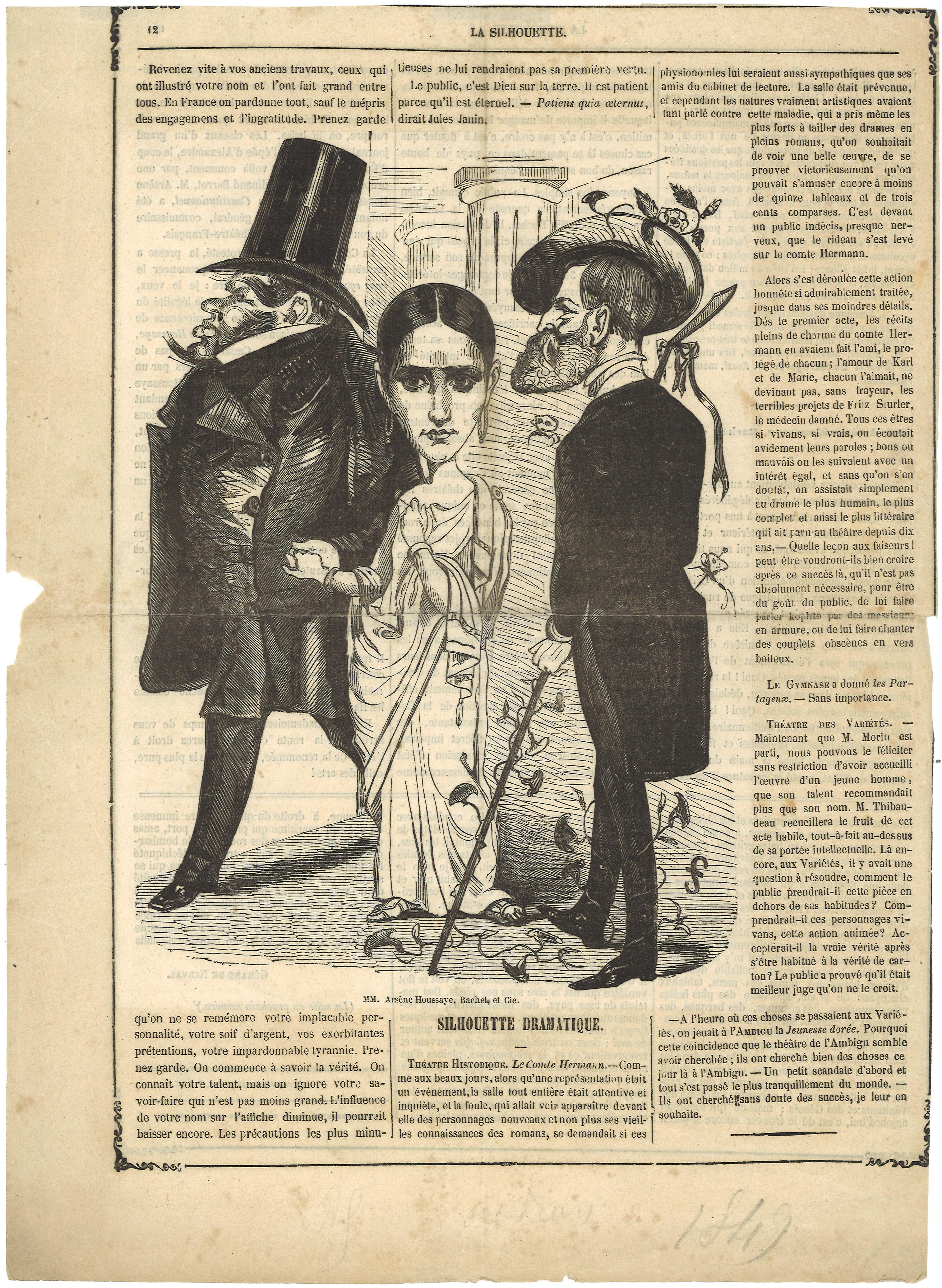 06-rachel-arsane-houssaye-caricature-la-silhouette-1849-