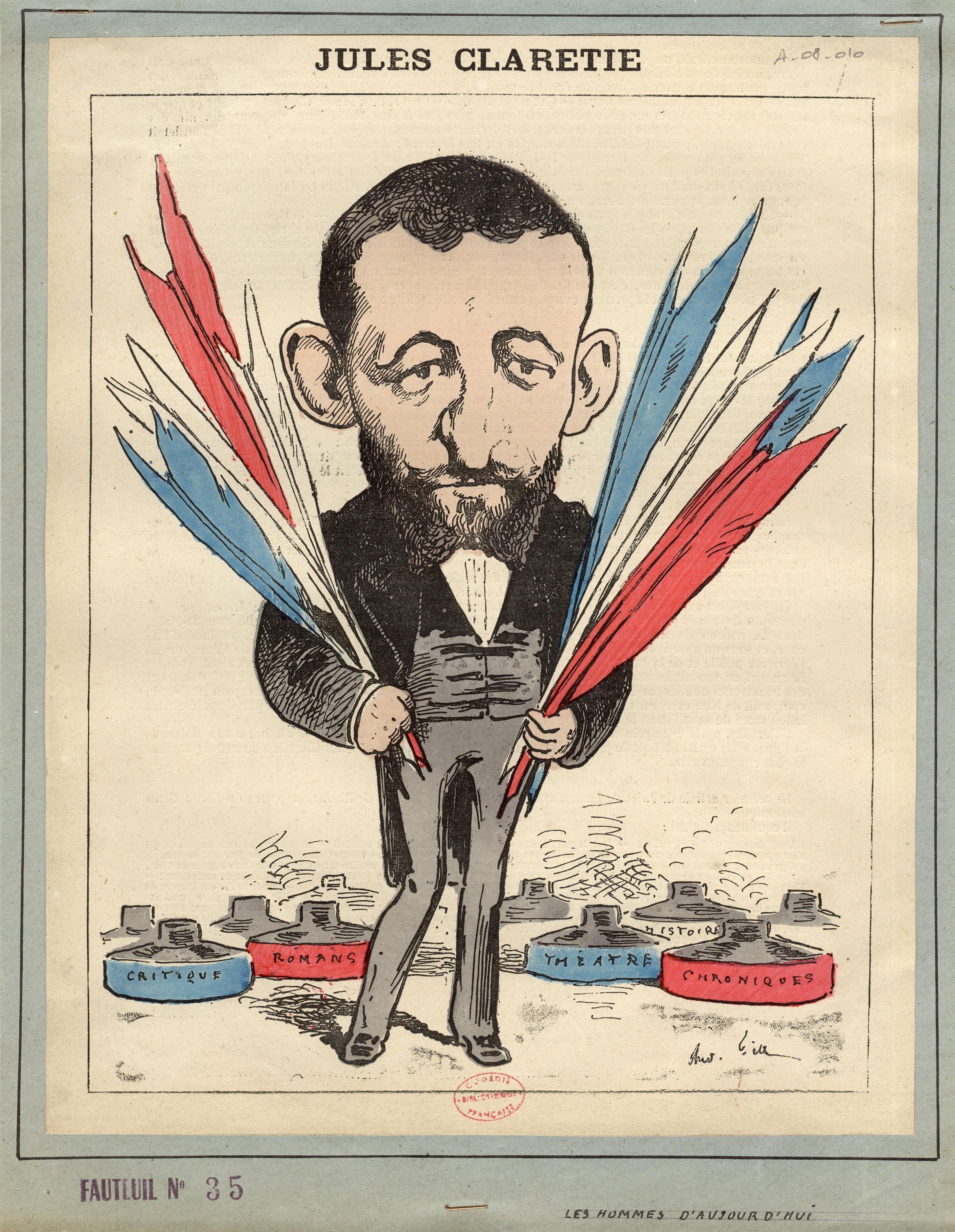 12-jules-claretie-caricature-par-gill-dans-les-hommes-daujourdhui