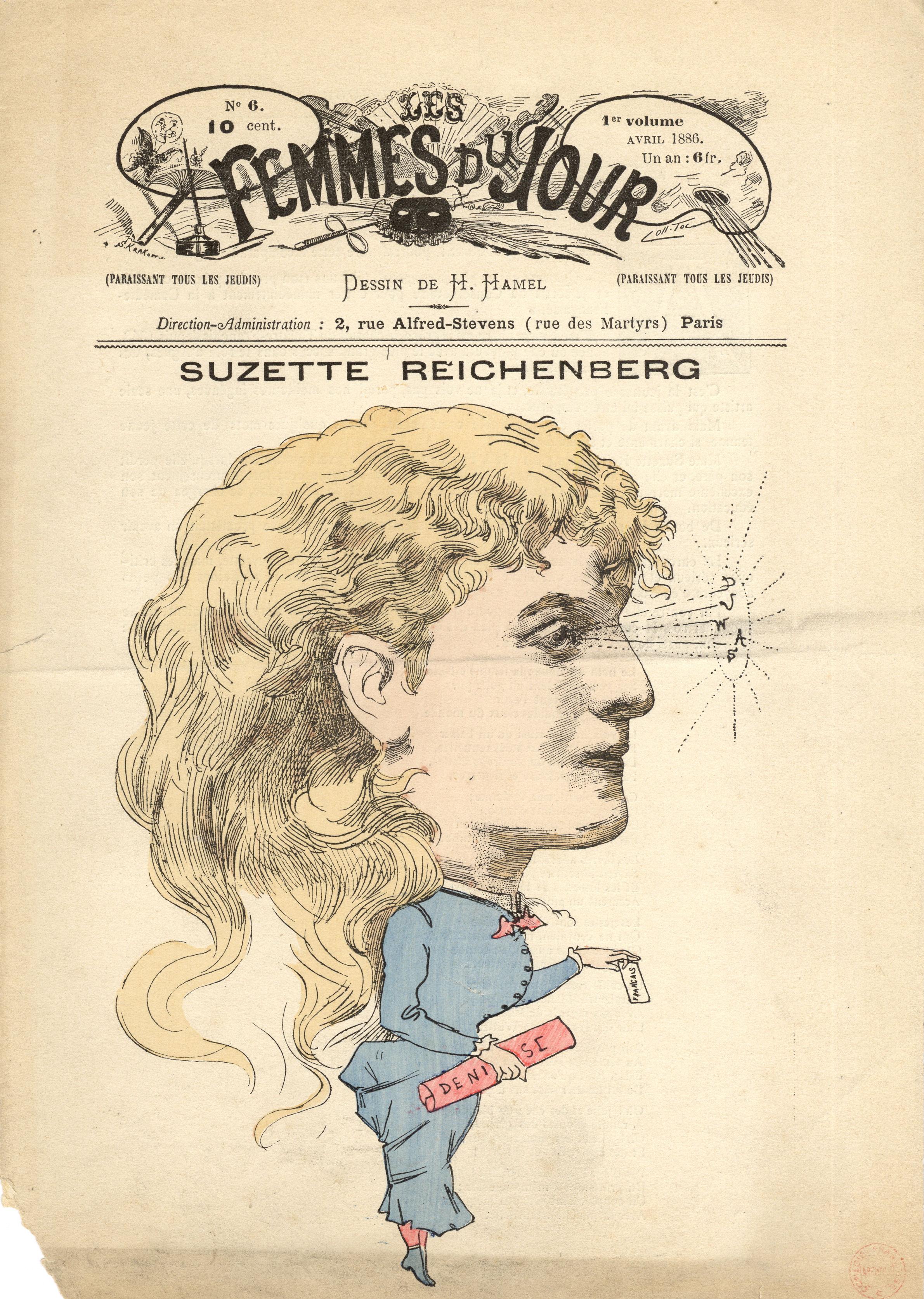 13-suzanne-reichenberg-caricature-de-h.-hamel-dans-les-femmes-du-jour-1886